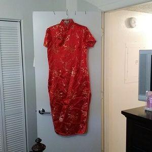 "Dresses & Skirts - A long length ""CHEONGSAM"" CHINESE DRESS"